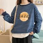 Striped Printed Pullover