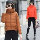 Stand Collar Padded Zip Jacket