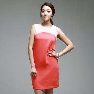Color-block Sleeveless Dress