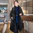 Drawstring-waist Padded Coat