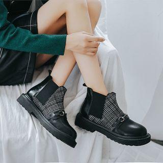 Plaid Chelsea Boots