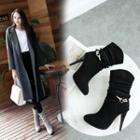 High Heel Mid Calf Boots