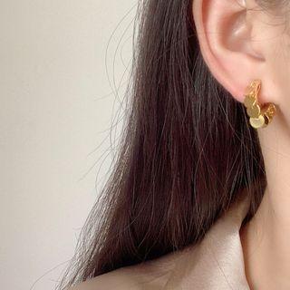 Heart Drop Clip-on Earring