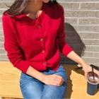 Hook And Eye Front Cardigan In 5 Colors