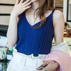 Cable-knit Camisole Top