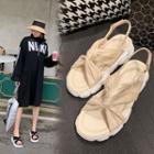 Twisted Slingback Platform Sandals