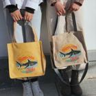 Shark Print Tote Bag