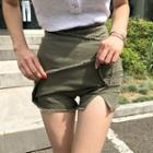 Zip-side Fringe-trim Shorts