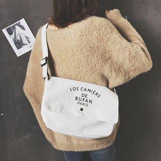 Letter Canvas Messenger Bag