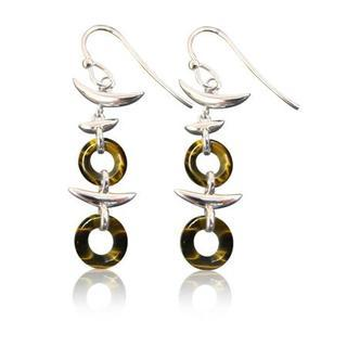 Yellow Tigers Eye Earrings