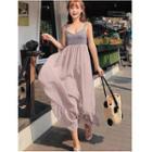 Sleeveless Chiffon Midi Beach Dress