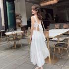 Sleeveless Tie-back Maxi Sundress