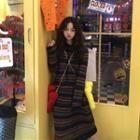 Striped Hooded Midi Knit Dress Knit Dress - Stripe - One Size