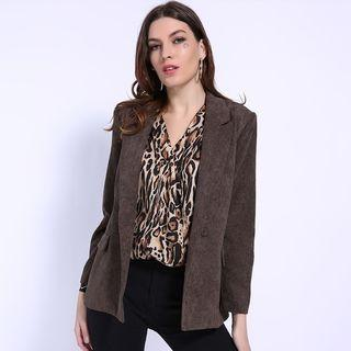 Double Breasted Pocketed Blazer