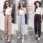 Lace-up Chiffon Harem Pants