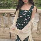 Print Floral Print Sleeveless Dress