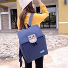 Owl Flap Canvas Backpack