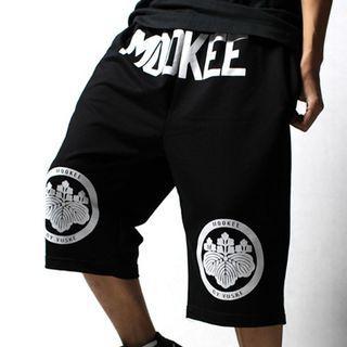 Printed Cropped Drawstring Pants