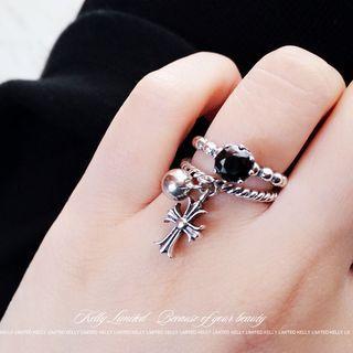 925 Sterling Silver Rhinestone Ring