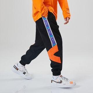 Drawstring Color Panel Harem Pants