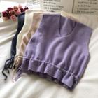 Drawstring-waist Knit Vest