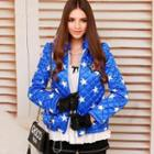 Star-print Appliqué Quilted Jacket