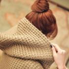 Chunky-knit Long Cardigan