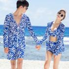 Printed Swim Shorts / Set: Patterned Bikini + Cover