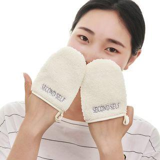 Facial Cleansing Gloves White - One Size