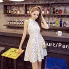 Lace A-line Tank Dress