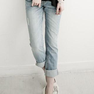 Washed Boyfriend Jeans