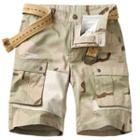 Belted Camo Cargo Shorts