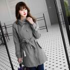 Button Coat With Belt