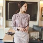 Detachable Necklace Pleated Top