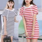Hooded Striped Dress