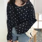 Long-sleeve Polka Dot T-shirt