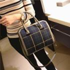 Plaid Tote With Shoulder Strap