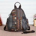 Patterned Denim Backpack Denim Color - One Size