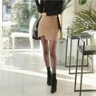 Cut-away Hem Pencil Miniskirt