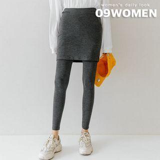 Plus Size Inset Skirt Leggings