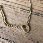 Letter Bold Chain Bracelet Gold - One Size
