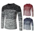 Round Neck Gradient Sweater