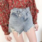 Distressed Washed Shorts