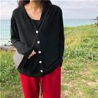 Hooded Light Cardigan
