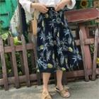 Convertible Floral Print Dress