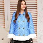Ruffled Quilted Double-breasted Jacket