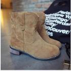 Faux Suede Short Boots