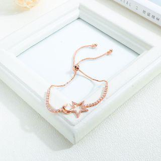 Couple Matching Rhinestone Necklace 974 - One Size