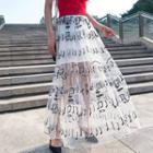 Musical Note Maxi Skirt