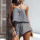 Gingham Strapless Playsuit